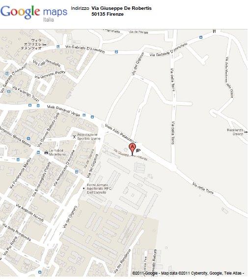 La palestra si trova subito dopo la Caserma, Quasi davanti al centro Tecnico di Coverciano